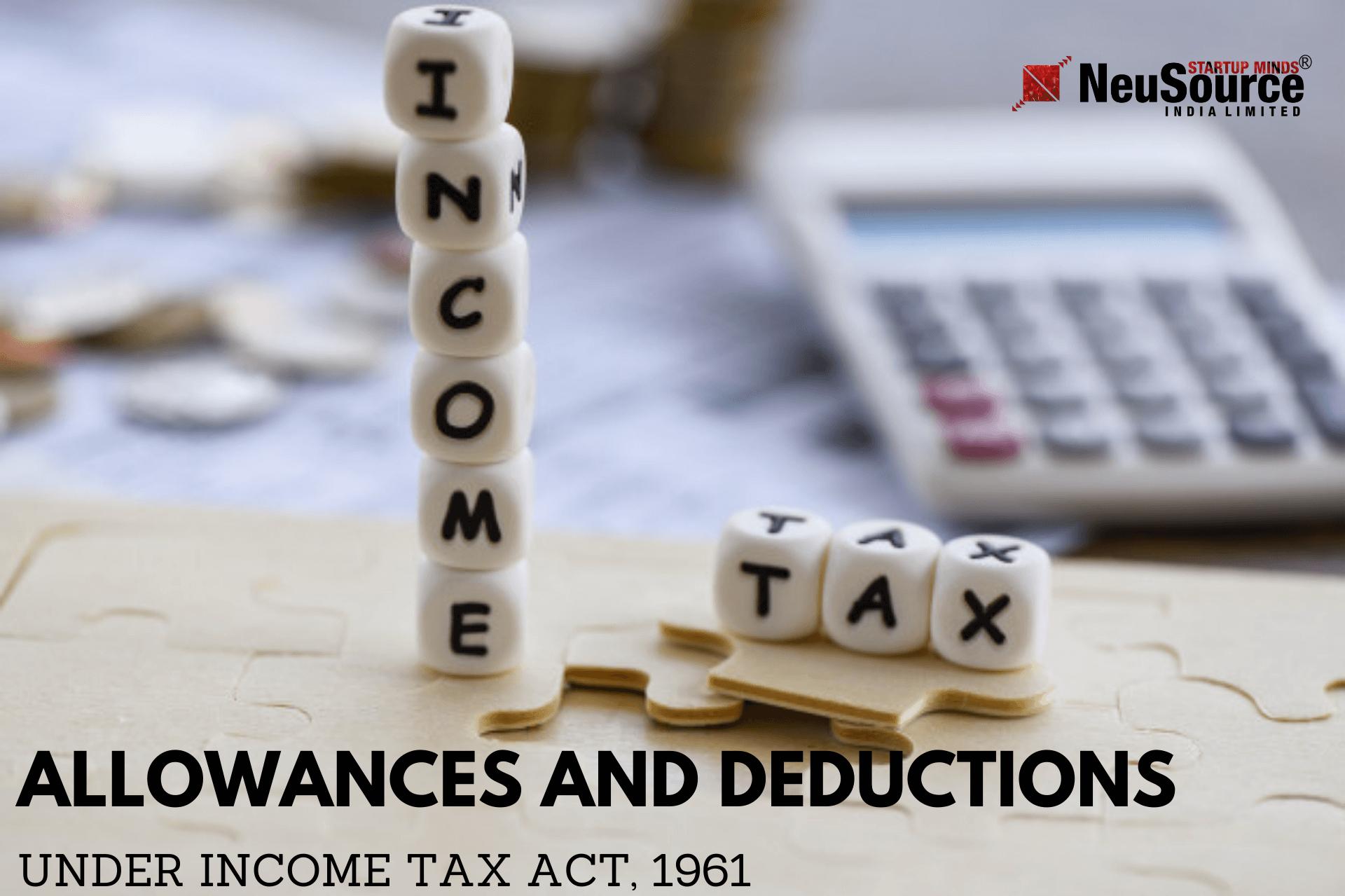 Income Tax Allowances, Income Tax Deductions, Income Tax ...