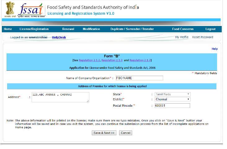 FSSAI License for ecommerce business