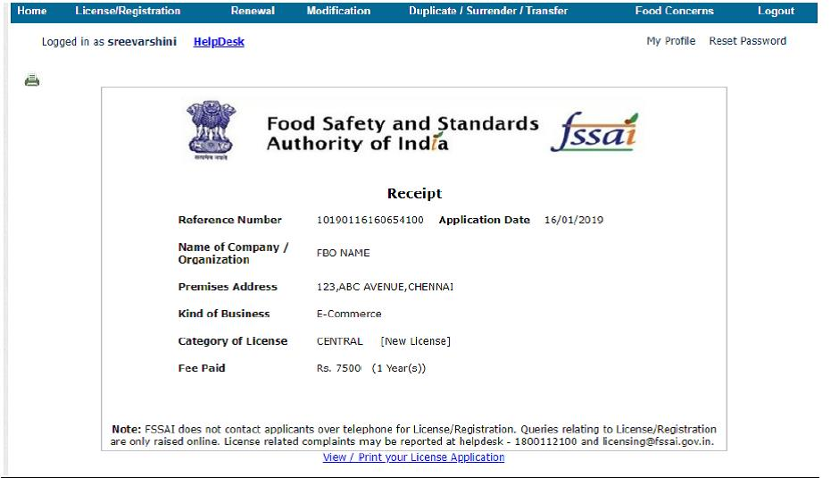 FSSAI Licence Requirement for Ecommerce Business