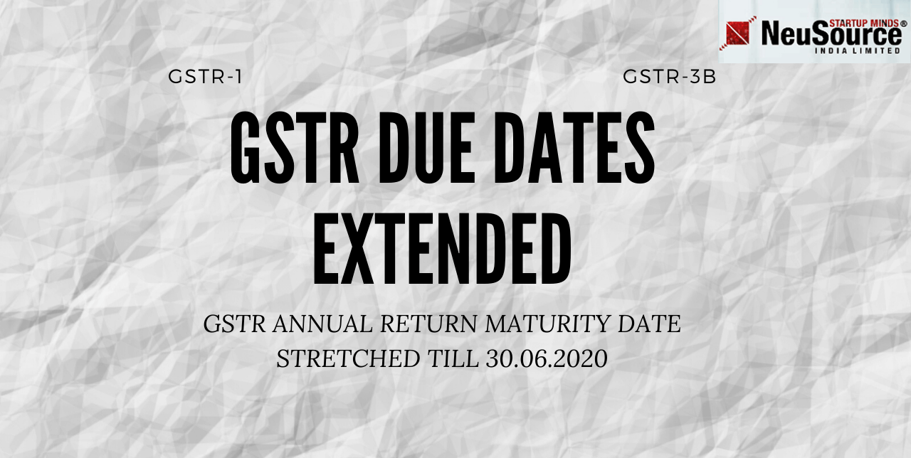 GSTR Target Date Extended, New GSTR Due dates and Extension