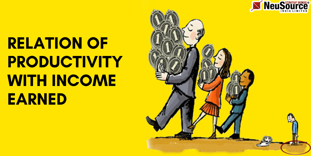 Relation of Productivity with Income Earned
