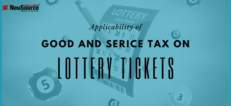 GST on supply of lottery tickets