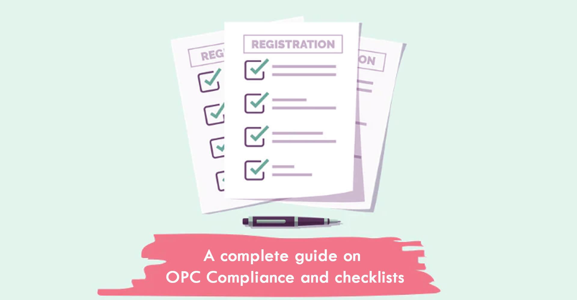One Person Company Compliance