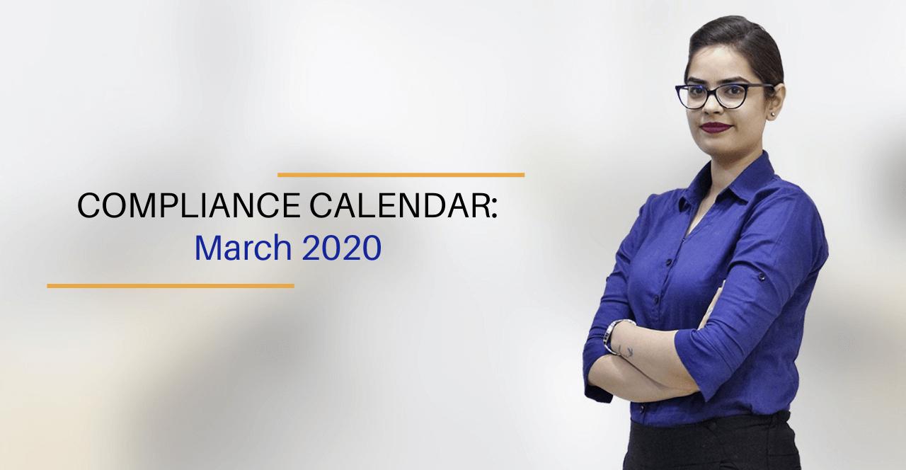 Corporate Compliance Calendar 2020